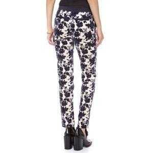 NWOT Tory Burch floral velvet rose Dayton pants